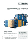 Manual Binding Horizontal Baler Brochure