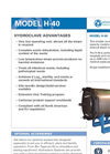 Model H-40 - Hydroclave System Spec Sheet