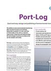 Port Log - Quick and Easy Storage and Publishing of Environmental Monitoring Data Software Brochure