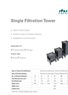 Single Filtration Towers Product Data Sheet