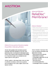 Ahlstrom ReliaDisc - Membrane Filters Datasheet