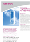 Advanced Filtration - High Efficiency Air filter Media Brochure