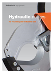 Hydraulic cutters for recycling and industrial use