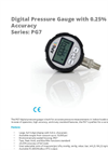 APG - Model Series PG7 IP67 - Digital Pressure Gauge - Brochure