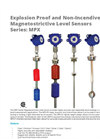 Series: MPX - Explosion Proof and Non-Incendive Magnetostrictive Level Sensors