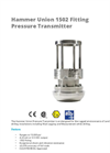 APG - Model 1502 - Hammer Union Pressure Transmitter Brochure