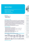 Model MR series - Medium Pressure Regulators  - Brochure