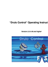 Drulo Control - Version 2.0.4.40 and Higher - Operating Instructions User Manual