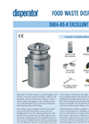 Excellent - Model 500A-BS-K - Food Waste Disposers System Brochure
