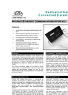 Ethernet to Serial Communication Adapter - Data Sheet