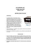 UV Ozone Analyzer – Manual