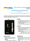 Model C-21 Color-bar, VOC Gas Detector with Audio Alarm & Data Logger Output - Brochure