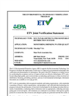 ETV Joint Verification Statement