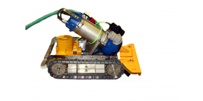 Remote Controlled Sediment Removal  Vehicle for Cooling Towers etc.