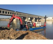 Mud Cat MFD-1000 Dredges Operating in the Tigris and Euphrates Rivers