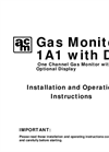 AMC - Model 1ACOsv Series - Standalone Carbon Monoxide Monitor with VFD Output - Manual