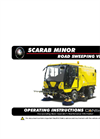 Scarab - Minor Compact Road Sweeper Operation Manual