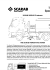 Scarab Merlin XP Hydrostatic Technical Specification