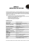AKWATECH - Model GJ HD 340 - Disk Diffuser Brochure