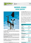 Geonica - Model 03002 - Wind Sentry Anemometer - Brochure