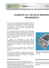 Geonica - Model Series Si - Calibrated Solar Cell - Brochure