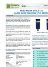 Geonica - Model RADAR-6115/6135 - Water and Snow Level Sensor - Brochure