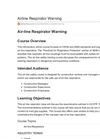 Air-line Respirator Warning Online Course - Datasheet