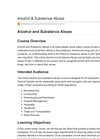 Alcohol and Substance Abuse Intermediate Online Safety Course - Datasheet
