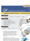 QX Integrated Converter Silencer - catalytic silencer