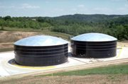 Aluminium coverage for potable water storage tanks
