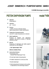 Model Series HBW - Double Diaphragm Piston Pump Brochure