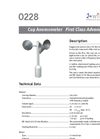 Model 0228 - Cup Anemometer Brochure