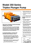 NLB - Model 350 Series - Triplex Plunger Pump - Brochure