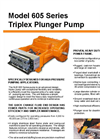 NLB - Model 605 Series - Triplex Plunger Pump - Brochure