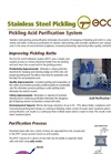 Stainless Steel Pickling Acid Purification System Brochure