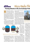 `Micro Media Filtration Proving Effective in RO, Ion Exchange Pretreatment` - Industrial Water World