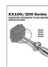 EX100–200 - Electromagnetic Flow Sensors – Manual