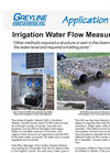 Irrigation Water Flow Measurement Application Brochure
