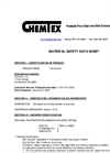 CHEMTEX - Model OIL052 - Vermiculite Absorbent Granulars - SDS Brochure