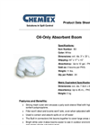 CHEMTEX - Oil Only Booms Brochure