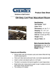 CHEMTEX - Model XT - Oil Only Boom Brochure