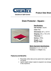 Chemtex - Model OIL810 - Red Square Reversible Drain Cover Brochure