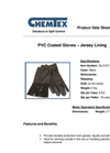 CHEMTEX - Model GLO1217 - PVC Coated Gloves Brochure