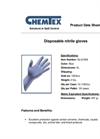 CHEMTEX - Model 4 mil - (GLO1059) - Disposable Nitrile Gloves Brochure