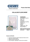 CHEMTEX - Model OILM7911 - Cellulose Floor Sweep Sorbent Granulars Brochure