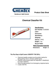 Chemtex - Model OILM280019 - Chemical Classifier Kit Brochure