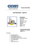 Chemtex - Model KIT1050 - Acid Neutralizing Spill Kit Brochure