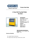 Chemtex - Model CON3007 - 2 Drum Roll Top Spill Pallet Brochure