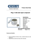 CHEMTEX - Model OILM9100 - 1 Lb Jar Plug Dike Tank Repair Compound Brochure