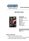 CHEMTEX - Model TOW802 - Red Shop Towels Brochure